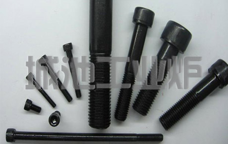 Blackened heat treatment of hardware and fasteners