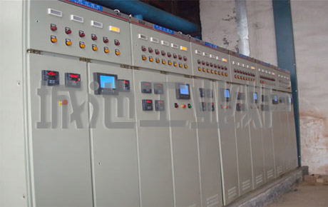 Industrial heat treatment furnace control cabinet